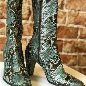 Donald Pliner Snakeskin Boots - size 8.5